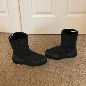 Ugg Australia black Ultra short sheepskin boots 5